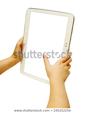 Toddler touching tablet stock photo © unkreatives