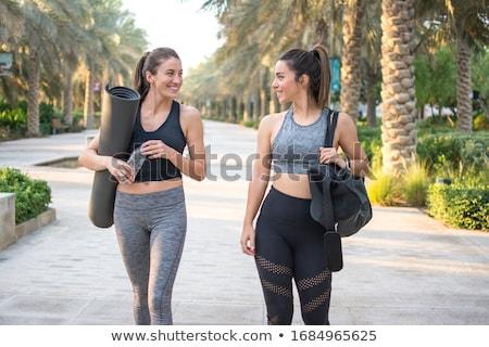 iki · kızlar · spor · kız · siyah - stok fotoğraf © o_lypa
