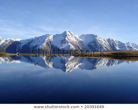 Simetri yansıma göl sonbahar sabah su Stok fotoğraf © CaptureLight