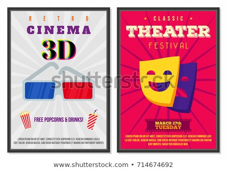 Retro movie theater posters flat design Stock photo © LoopAll