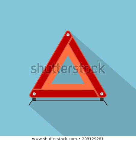 Vector icon of warning triangle and breakdown cars Stock photo © adrian_n