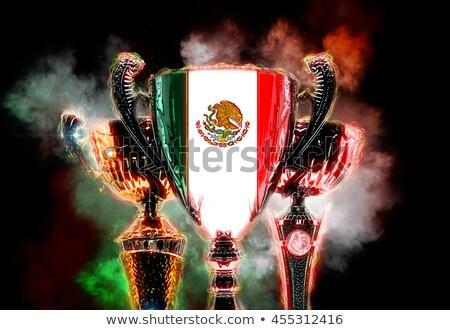 Trófea csésze mintázott zászló Mexikó digitális illusztráció Stock fotó © Kirill_M