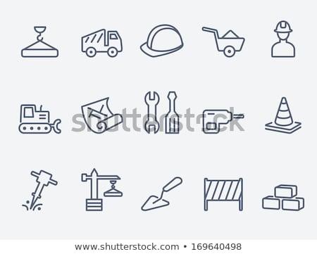 Traffic cones and bricks Stock photo © bluering