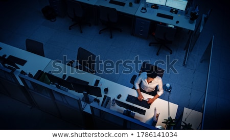 Dedicated businesswoman working late at night Stock photo © Giulio_Fornasar