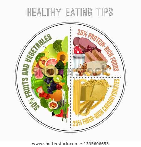 健康 バランスのとれた 食品 パン 野菜 ダイエット ストックフォト © M-studio
