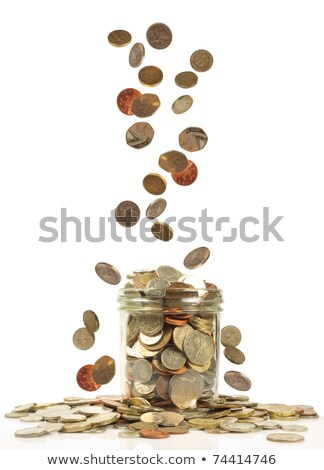 Glass jar with coins for car stock photo © Natali_Brill