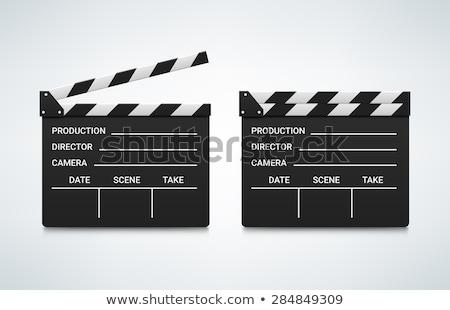clapper movie vector illustration clip art image stock photo © vectorworks51