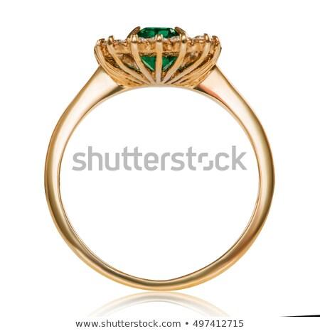 Ruby gemstone isolated. Jewelry red stone on white background Stock photo © MaryValery