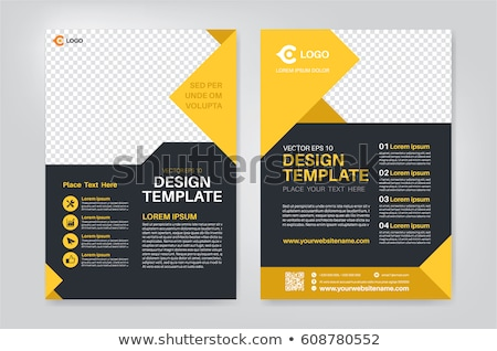 annual report booklet brochure template design with geometric sh Stock photo © SArts