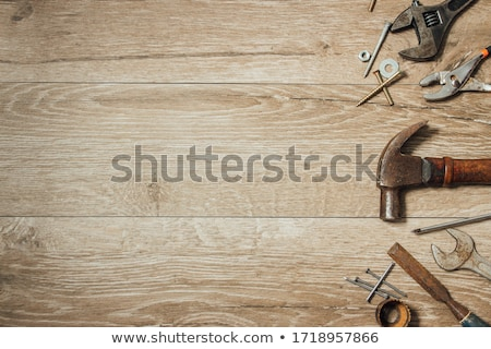 Tools on the workbench Stock photo © hamik