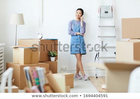Full length of woman standing on van Stock photo © wavebreak_media