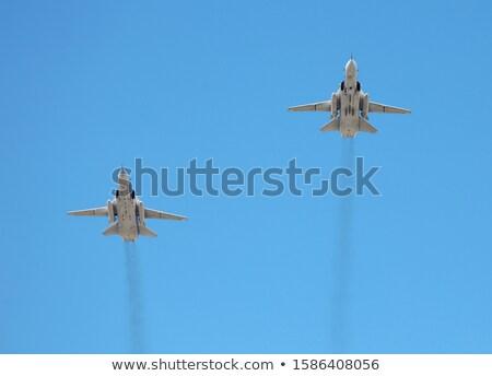 Opleiding vlucht groot technologie oorlog macht Stockfoto © njaj