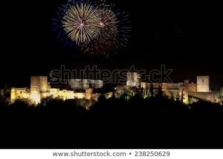 ストックフォト: アルハンブラ宮殿 · 花火 · ヨーロッパの · 市 · 文化 · 1泊