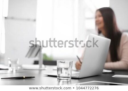 Laptop üveg víz internet terv technológia Stock fotó © IS2