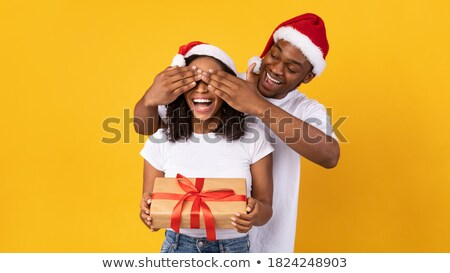 Pár borító fesztivál szeretet férfi gyermek Stock fotó © IS2