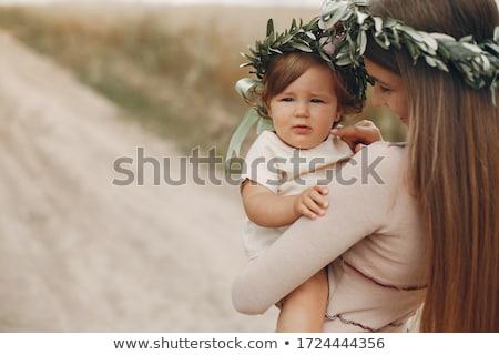 Anya baba mező természet jövő növekedés Stock fotó © IS2