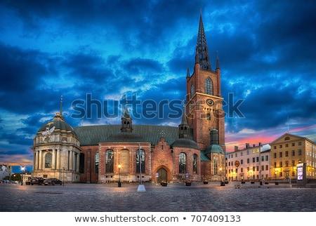 Igreja Estocolmo Suécia imagem céu nuvens Foto stock © magann