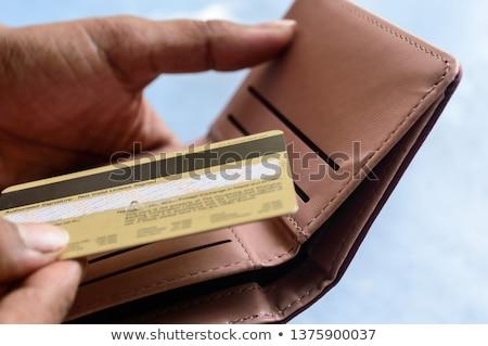 Személy kártya pénztárca közelkép személyek kéz Stock fotó © AndreyPopov