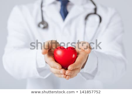 médecin · cardiologue · coeur · uniforme · main - photo stock © rastudio