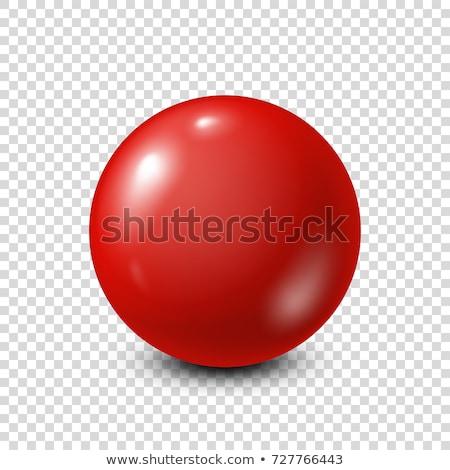 Renkli kırmızı top beyaz parlak yalıtılmış Stok fotoğraf © studioworkstock
