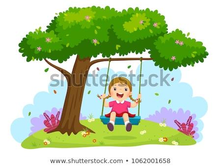 девушки дерево задний двор саду лет весело Сток-фото © IS2