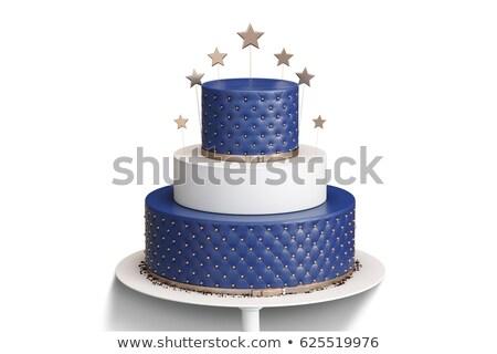 именинный торт праздник шаров Sweet Сток-фото © LoopAll