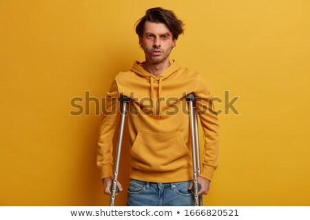 Foto stock: Saúde · trauma · amarelo · parede · saúde · nuvem · da · palavra