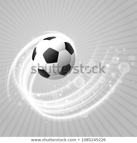 football background with white light trail and sparkles Stock photo © SArts