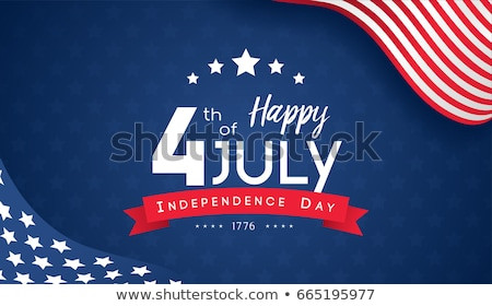 July 4 Independence day text greeting card Stock photo © orensila