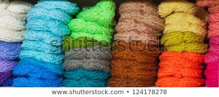 kötött · gyapjú · tarka · közelkép · háttér · minta - stock fotó © marylooo