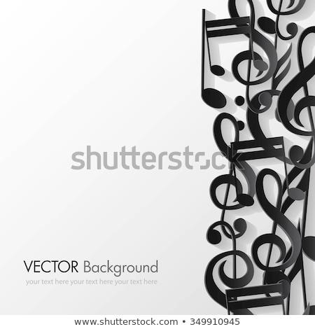 Musical coração trombeta retro rosa azul Foto stock © Artspace