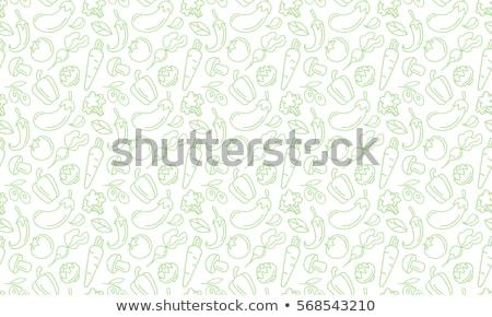 Fokhagyma végtelen minta vektor zöldség papír textúra Stock fotó © popaukropa