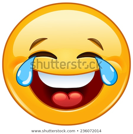 Laughing out loud emoticon Stock photo © yayayoyo