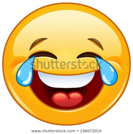 смеясь · смайлик · икона · 3D · счастливым - Сток-фото © yayayoyo