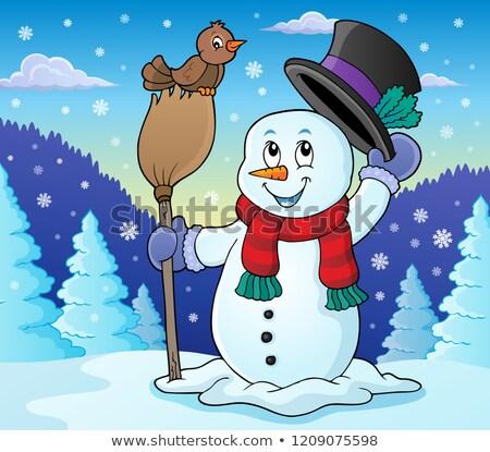 Winter snowman subject image 2 Stock photo © clairev