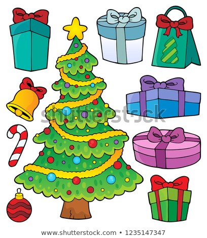 árvore de natal presentes tópico conjunto árvore caixa Foto stock © clairev