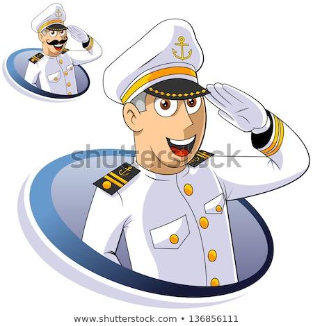 Desenho animado ilustração militar soldado forte piloto Foto stock © cthoman