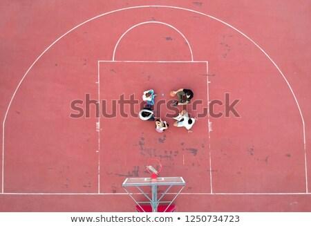 Fölött kilátás határozott kosárlabda bíróság fű Stock fotó © boggy