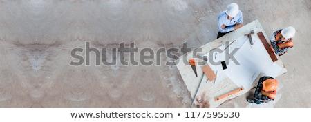 man · vrouw · werknemer · bouwplaats · praten · weg - stockfoto © diego_cervo