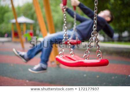Playground equipments on the playground Stock photo © colematt