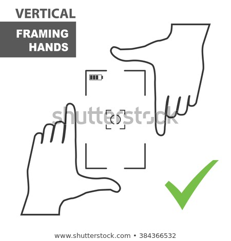 camera vertical viewfinder template Stock photo © romvo