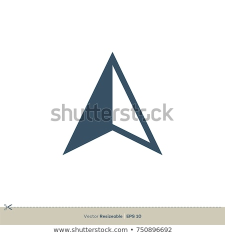 compass arrows icon symbol logo stock photo © blaskorizov