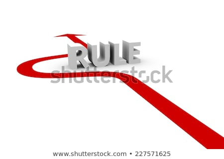 Reglas 3d flechas alrededor palabra Foto stock © olivier_le_moal