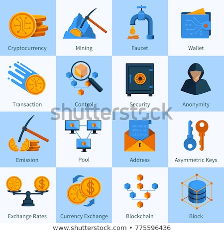 base · de · datos · icono · Hosting · datos · símbolo · dinero - foto stock © smoki