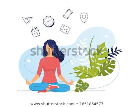 estrés · gestión · ilustración · verde · pizarra · escrito - foto stock © mazirama