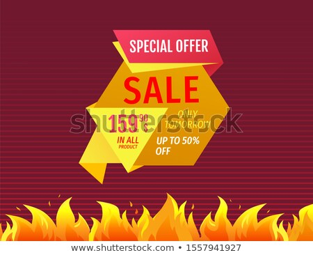 Morgen omhoog 50 af verkoop Stockfoto © robuart