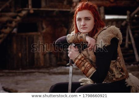 戦士 少女 実例 子 剣 ストックフォト © Dazdraperma