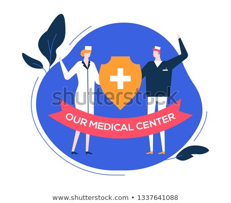 Our medical center - colorful flat design style illustration Stock photo © Decorwithme