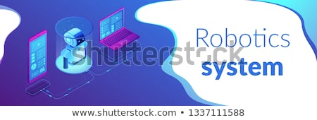 WiFi controlled robotics isometric 3D banner header. Stock photo © RAStudio