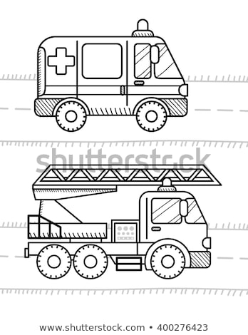 Cars and vehicles coloring book for your kids. Ambulance, Fire T Stock photo © sonia_ai